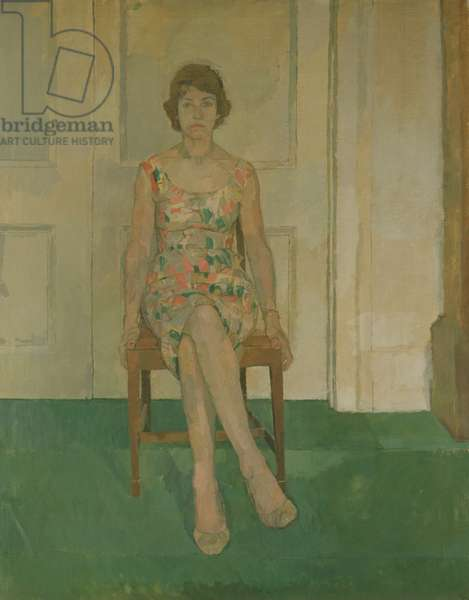 Susan Sitting, or Mrs Campbell, 1957 (oil on canvas)