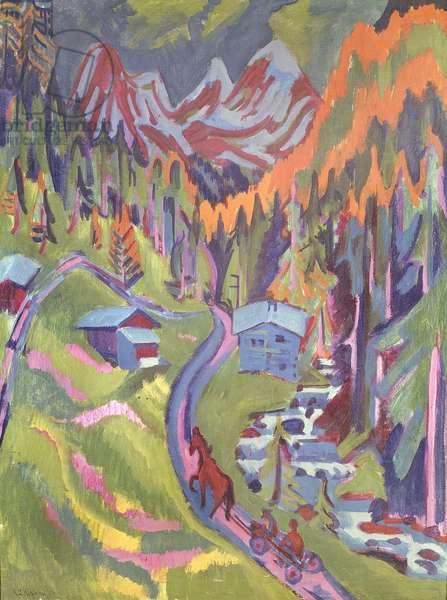 The Sertig Path in Summer, 1924 (oil on canvas)