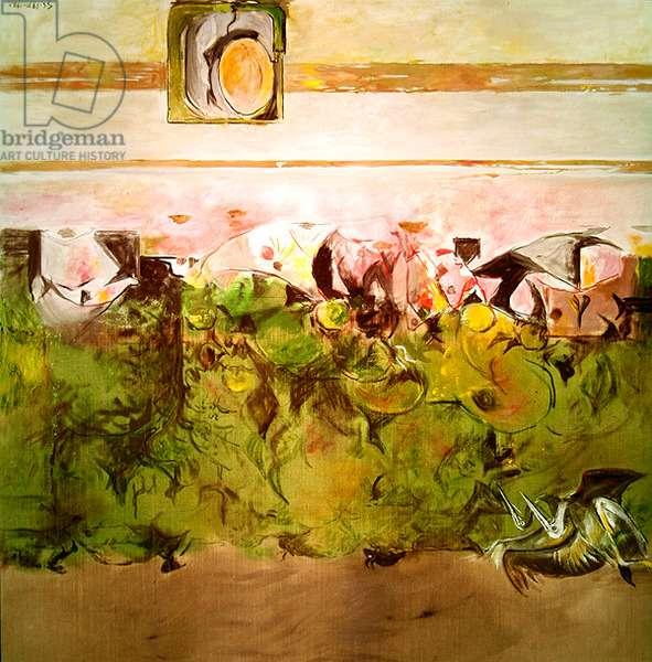 Estuary with Bird, 1971-72 (oil on canvas)