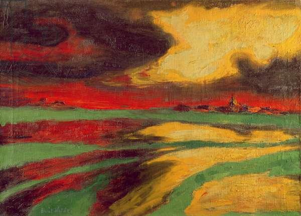 Autumn Evening, 1924 (oil on canvas)