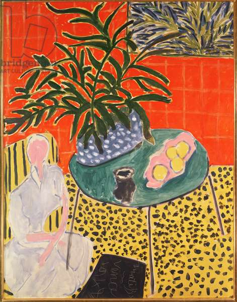 Interior with Black Fern, 1948 (oil on canvas)