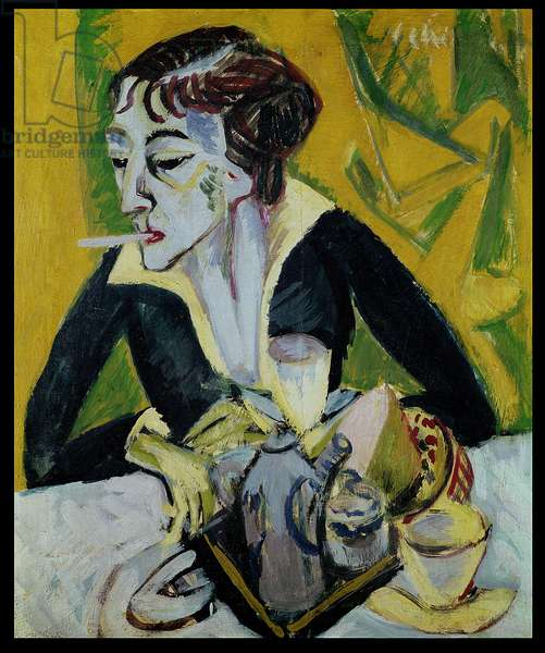 Erna with Cigarette, 1915 (oil on canvas)