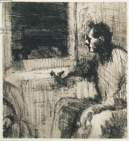 Man at a Window, 1991, edition of 25 (etching)