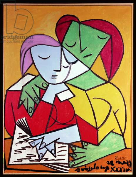 Two Girls Reading, 1934 (oil on canvas)