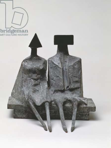 Sitting Couple, 1989 (bronze)