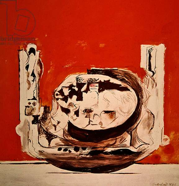 Rock Form, 1971 (gouache & ink on paper)