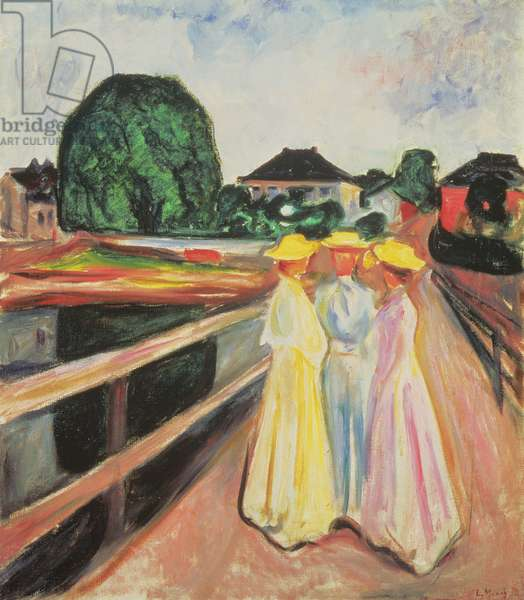 Three Girls on the Jetty, 1903 (oil on canvas)