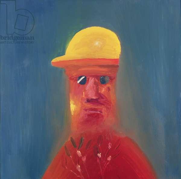 Miner, 1972 (oil on hardboard)