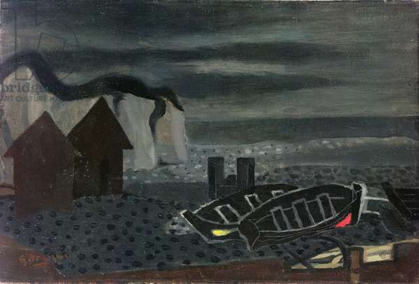 Beach Shack and Boats, 1933 (oil on canvas)