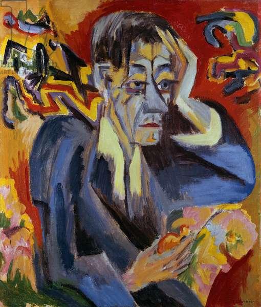 Portrait of the Poet Leonhard Frank, 1917 (oil on canvas)