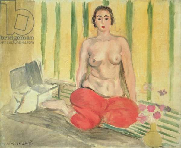 Odalisque au Pantalon Rouge, 1925 (oil on canvas)