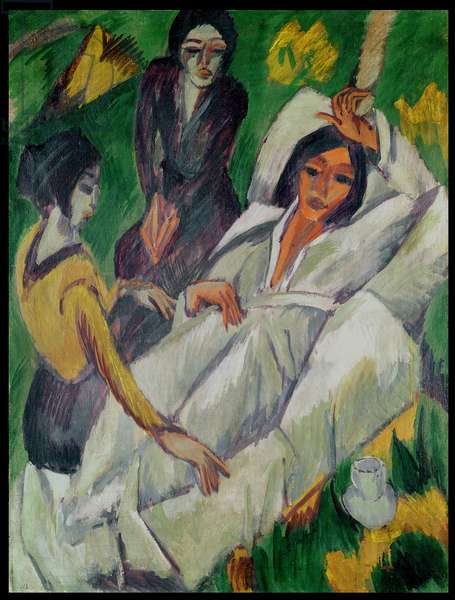 Woman at Tea Time: Sick Woman, 1914 (oil on canvas)
