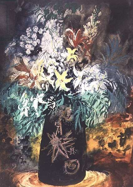 Flowers in a Black Pot, 1989, edition of 70 (etching and aquatint)