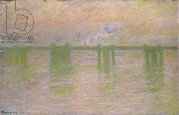 Charing Cross Bridge, 1902 (oil on canvas)
