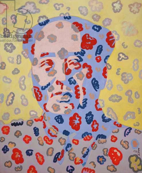 Mao Decorated, 1992 (acrylic on canvas)