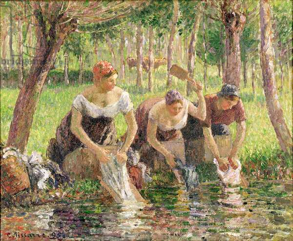 The Washerwomen, Eragny, 1895 (oil on canvas)