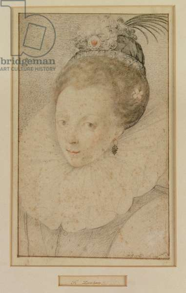 Portrait of Queen Elizabeth I (1533-1603) 16th century (w/c on paper)