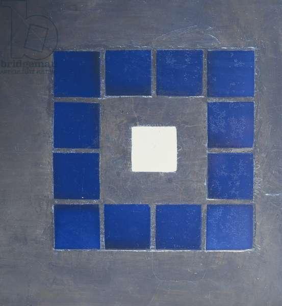 Glasgow School of Art, detail of stairwell tiles (photo)