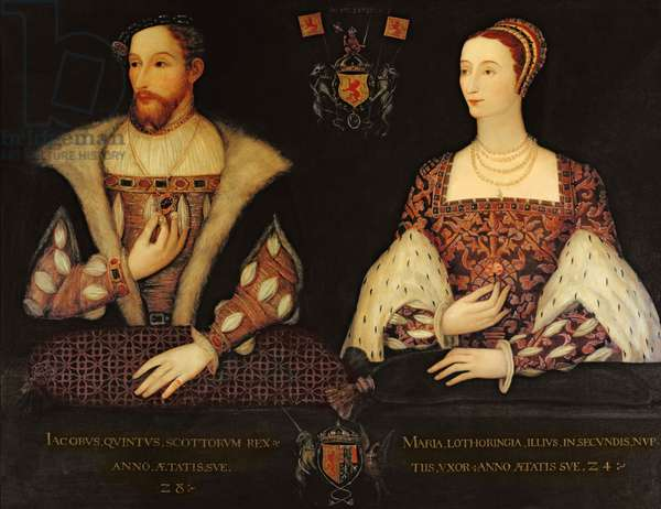 Copy of the original double portrait of Marie de Guise (1515-60) and King James V (1512-42) commissioned by Lord Bute, 1895 (oil on canvas)
