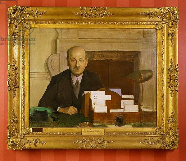 Clement Attlee (oil on canvas)