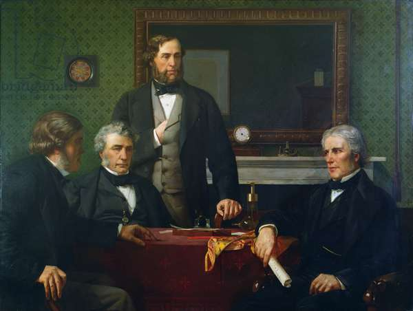 Deputation to Faraday, requesting him to accept the presidency