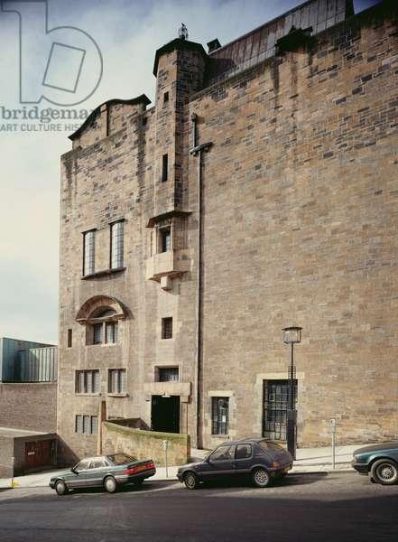 Glasgow School of Art, Dalhousie Street (West) elevation (photo)