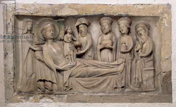 Adoration of the Magi, c.1350 (alabaster)