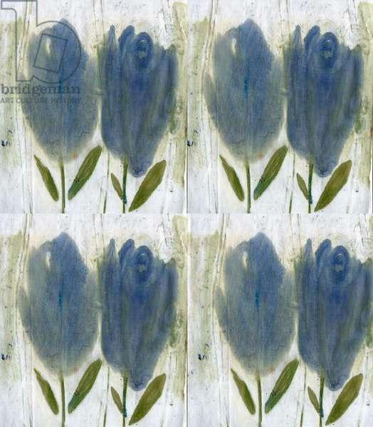 Blue tulips 2, 2020 (digital)
