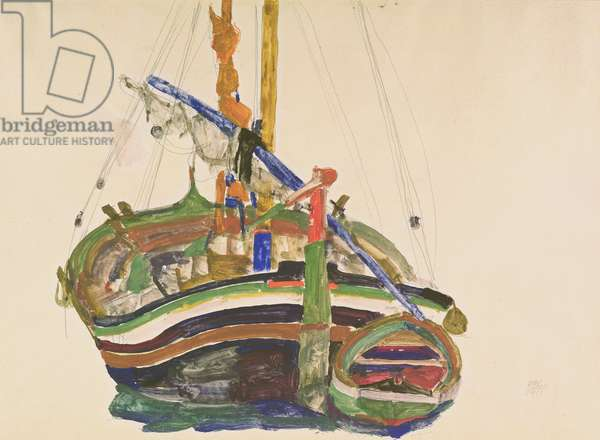 Trieste Fishing Boat, 1912 (pencil, w/c & gouache on Strathmore Japan paper)