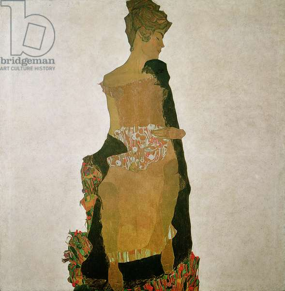 Gerti Schiele, 1909 (w/c on paper)