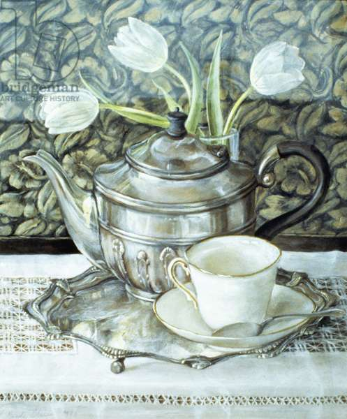 Srill life with Teapot (w/c and gouache on paper)