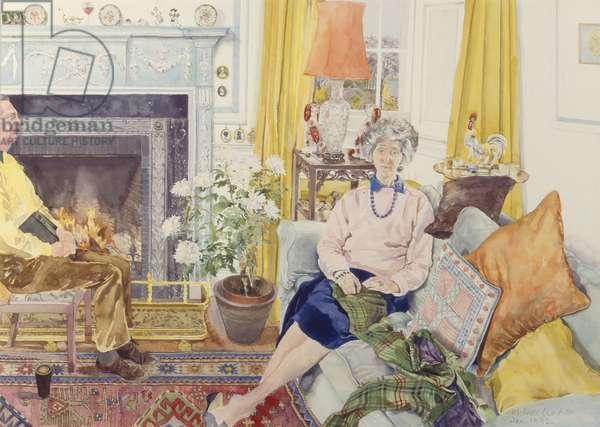 Rosemary and Philip McKenzie Ross, 1992 (w/c on paper)