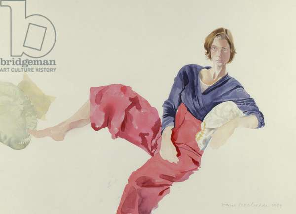 Reclining Girl, Domenica, 1989 (w/c on paper)