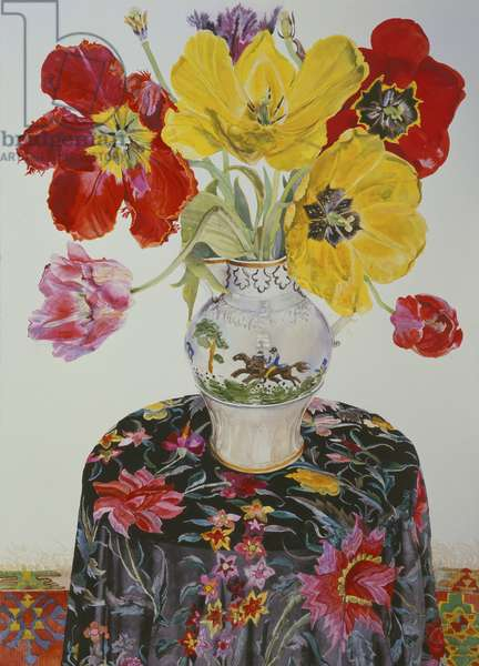 Still Life with Tulips (W/C on paper)