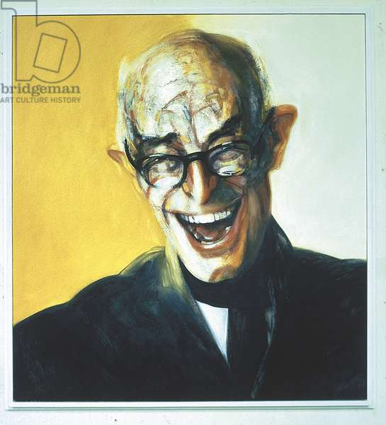 Lett Laughing, 1975 (oil on board)
