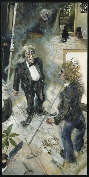 Max and Me- In Praise of Smoking, 1982 (oil on canvas)