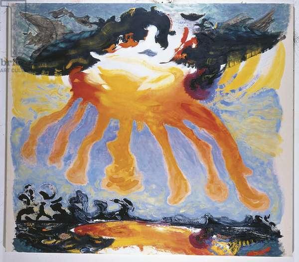 Dragon Sunrise, 1986 (oil on canvas)