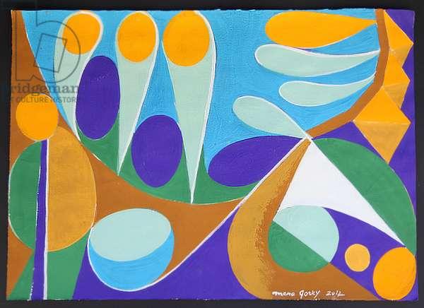 Under the Tamarisks, 2012 (powder & acrylic on paper)
