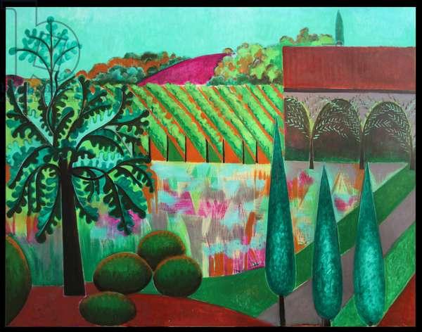 My Garden (oil on canvas)