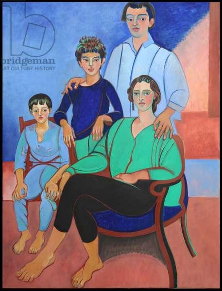 Cosima's Family (oil on canvas)