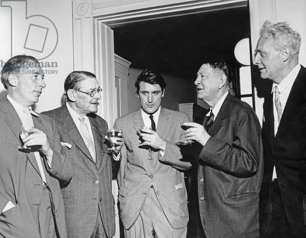 The Faber Poets. Louis MacNeice, T.S. Eliot, Ted Hughes, W.H.Auden, Stephen Spender, 1960 (photo)