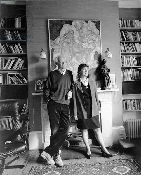 Michael Frayn with Clare Tomalin, 1996 (photo)