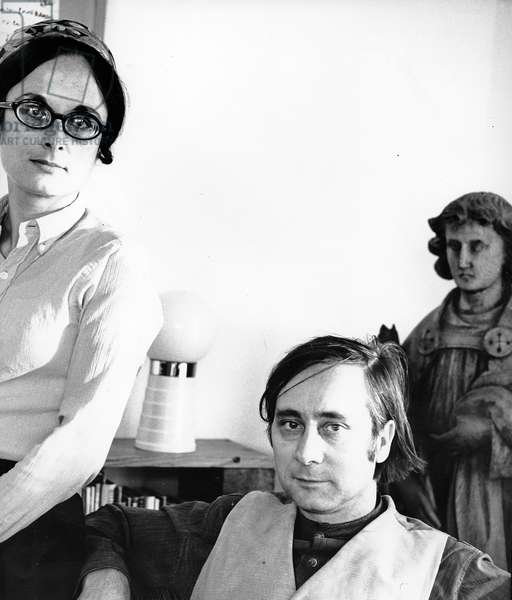 Alan Sillitoe with wife poetess Ruth Fainlight, 1969 (photo)