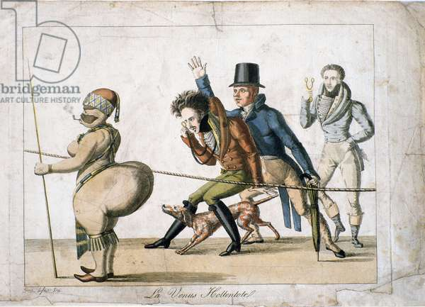 La venus Hottentote, c.1814 (handcoloured engraving)