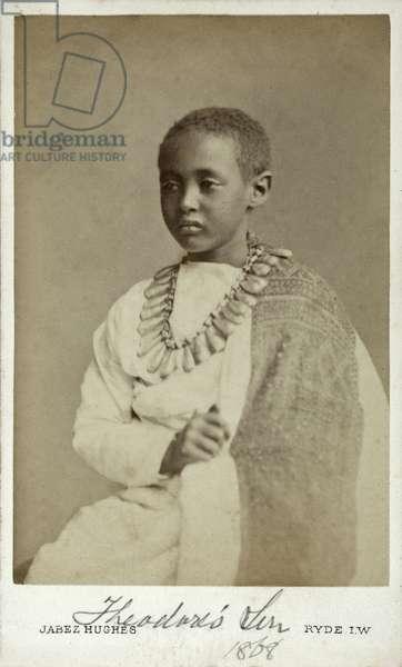 Prince Alamayu, son of Emperor Theodor II of Abyssinia,  Ryde, England, 1868 (albumen print)