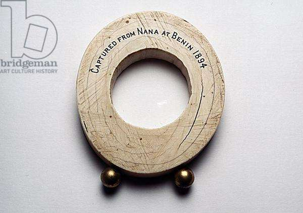 Tusk section captured from Nana at Benin in 1894 (ivory)