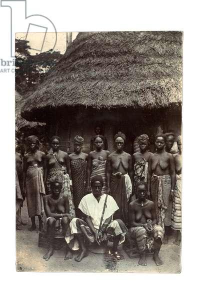 Old time chief, Upper Mendi, Sierra Leone, c.1920 (gelatin silver print)