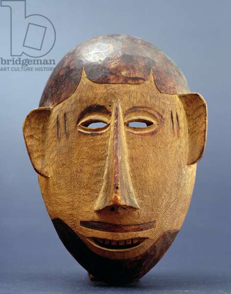 Mask representing a European man, Makonde, Northern Mozambique, Southern Tanzania, early 20th century (wood)