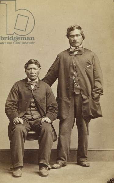 Takerei and Hapimana, c.1863 (albumen print)