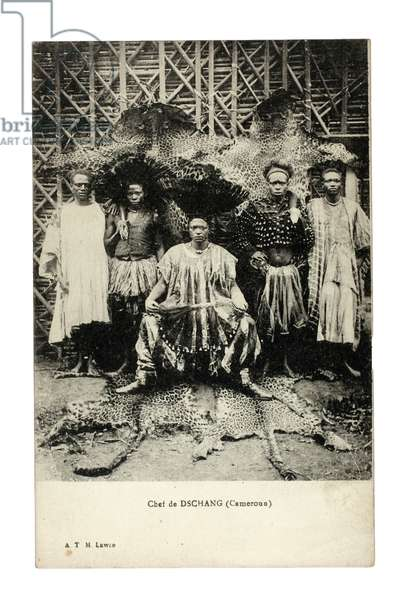 Chief of Dschang, Cameroon, c.1910 (litho)